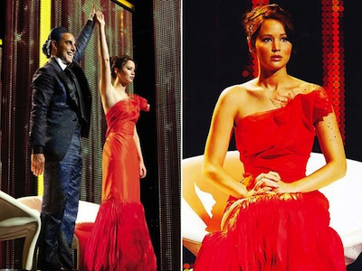 Hunger Games Katniss Everdeen red dress Costume