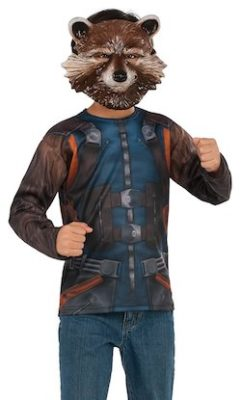 Child Rocket Raccoon Costume Top