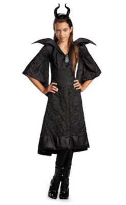 Girls Maleficent Black Gown Costume