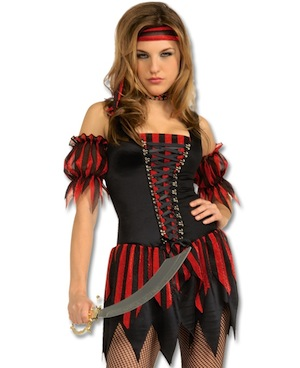 Halloween Costumes -Sexy Swashbuckler Adult Costume
