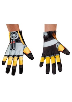 Mens Bumblebeee Transformers Gloves