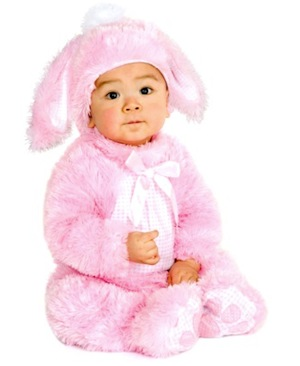 Easter Bunny Baby Costume Pink
