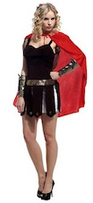 Roman Warrior Gladiator Goddess Costume