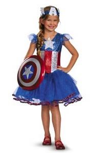 Marvel Superhero Girl Captain America Costume