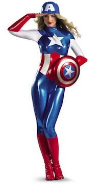 Marvel Womens'Captain AmericaCostume