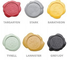 Game of Thrones House Wax Seal Coasters