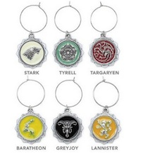 Game of Thrones party and decoration Wine Charms