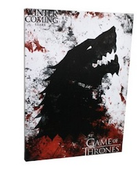 Game of Thrones House Stark Canvas Banner