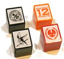 Hunger Games Party Supplies Square Stamps