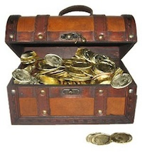 Pirate Treasure Chest of Gold