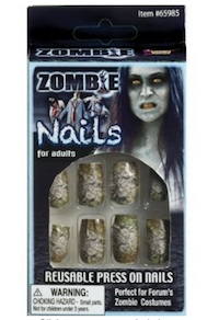 White Walker Costume Nails Halloween