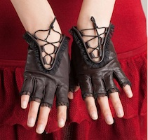 Selena Kyle Costume Leather Gloves