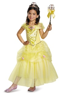 Beauty and the Beast Belle Costumes - yellow dress with wand