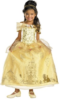 Beauty and the Beast kids Belle Costumes - prestige yellow dress