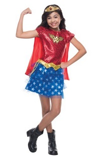 Wonder Woman Corset Costume Sequined for Kids