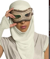 Star Wars Rey Costume Eye Mask with Hood