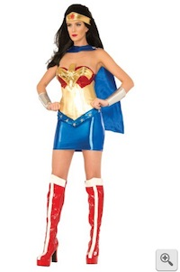 Wonder Woman Corset Costume for Adults