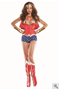 Caped Halloween Wonder Woman Costume