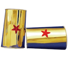 Halloween Wonder Woman Props for Costume GOld Cuffs