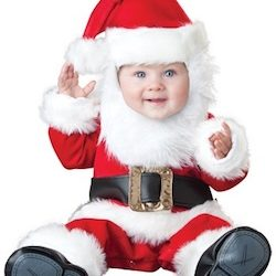 Christmas Cute Baby Santa Costume Photography