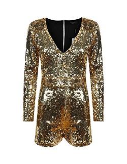 GLOW Netflix Debbie Eagen Liberty Bell Gold Costume - Jumpsuit