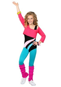 GLOW Netflix 80's Workout Costume Kids