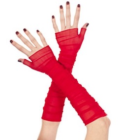 GLOW Netflix Ruth Red Arm Gloves