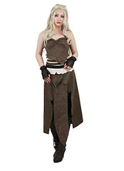 Game of Thrones - Daenerys Cosplay Costume Brown outfit