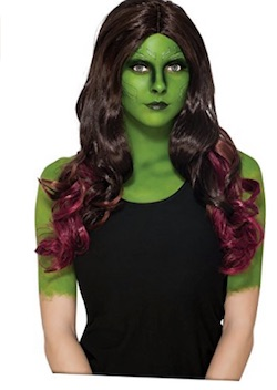 Guardians of the galaxy Gamora Costume wig
