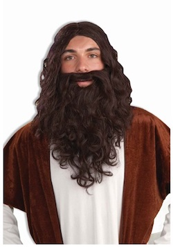 Hagrid costume wig and beard