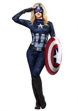 Adult Captain America Costume - Women