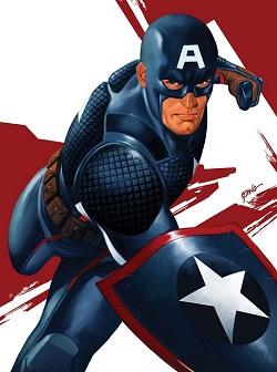 Superheroes Captain America Adult Costume