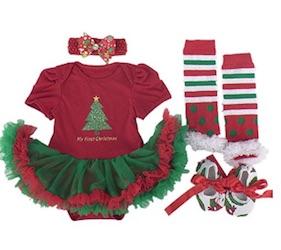 Cute Christmas Baby 1st Christmas Costume