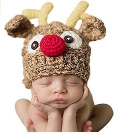 Cute Christmas Baby Reindeer Hat