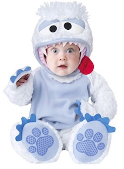 Cute Christmas Baby Costume Abominable Snowbaby
