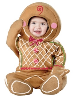 Cute Christmas Baby Gingerbread man costume