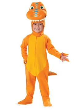 Halloween Dinosaur Costume for Kids and Adults - Orange t-rex