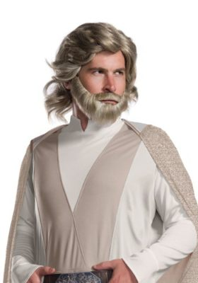 Star Wars The Last Jedi Luke Skywalker Costume Wig and Beard
