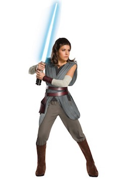 Deluxe Star Wars The Last Jedi Rey Costume for Adults