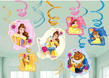 Beauty and the Beast party decorations balloons - swirl decorations
