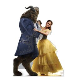Beauty and the Beast party decorations balloons - cardboard standup
