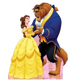 Beauty and the Beast party decorations balloons - cardboard cutout