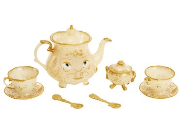 Beauty and the Beast party decorations balloons - tea set