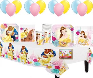 Beauty and the Beast party decorations balloons - party bundle