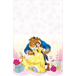 Beauty and the Beast party decorations balloons - table cover
