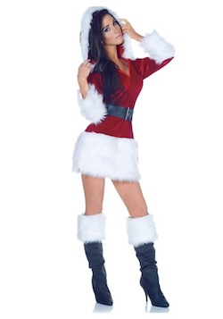Christmas sexy Santa Claus costumes for adults
