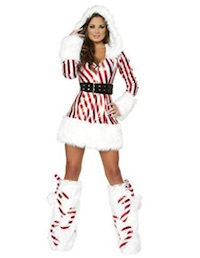 Christmas Sexy Adult Candy Cane Costume Ideas for Women