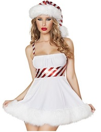 Christmas Sexy Adult Candy Cane Costume for Women