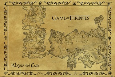 Game of Thrones Party Decorations Balloons map of westeros