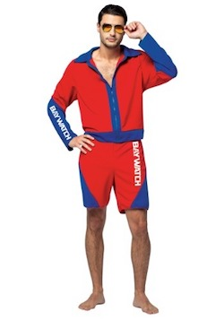 Baywatch Costumes Red Swimsuits Dwayne Johnson